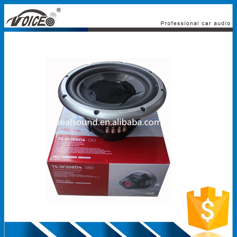 brand name dual voice coil 4ohms universal car woofer speaker factory price VW-308D4