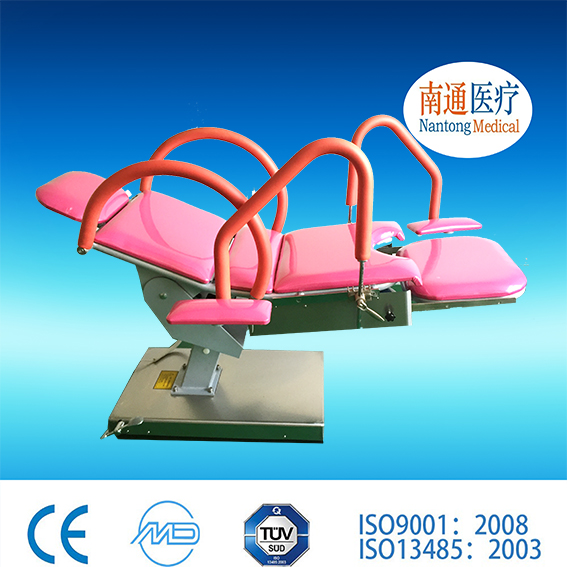 Golden manufacturer Nantong Medical antique gynaecological examination table/ gyn chair with certificate