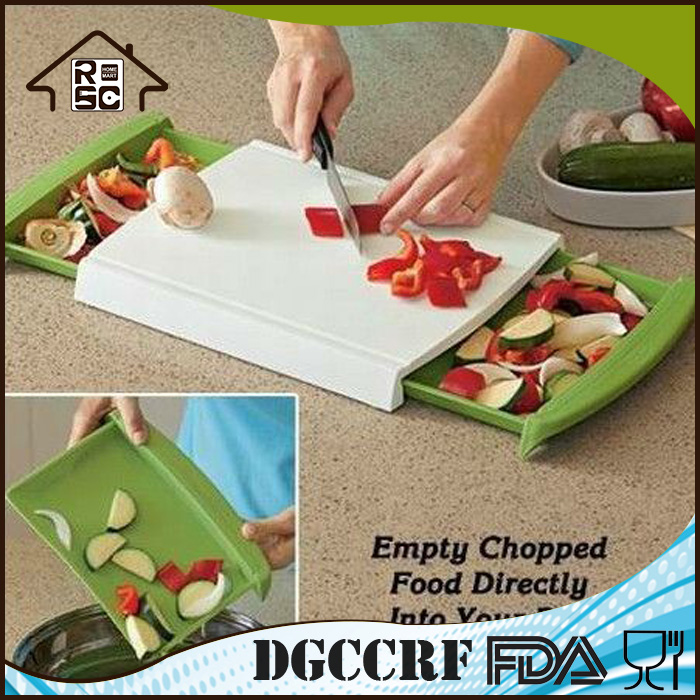 NBRSC Quick Delivery Time Multifunction Plastic Non Slip Cutting Board with Drawer