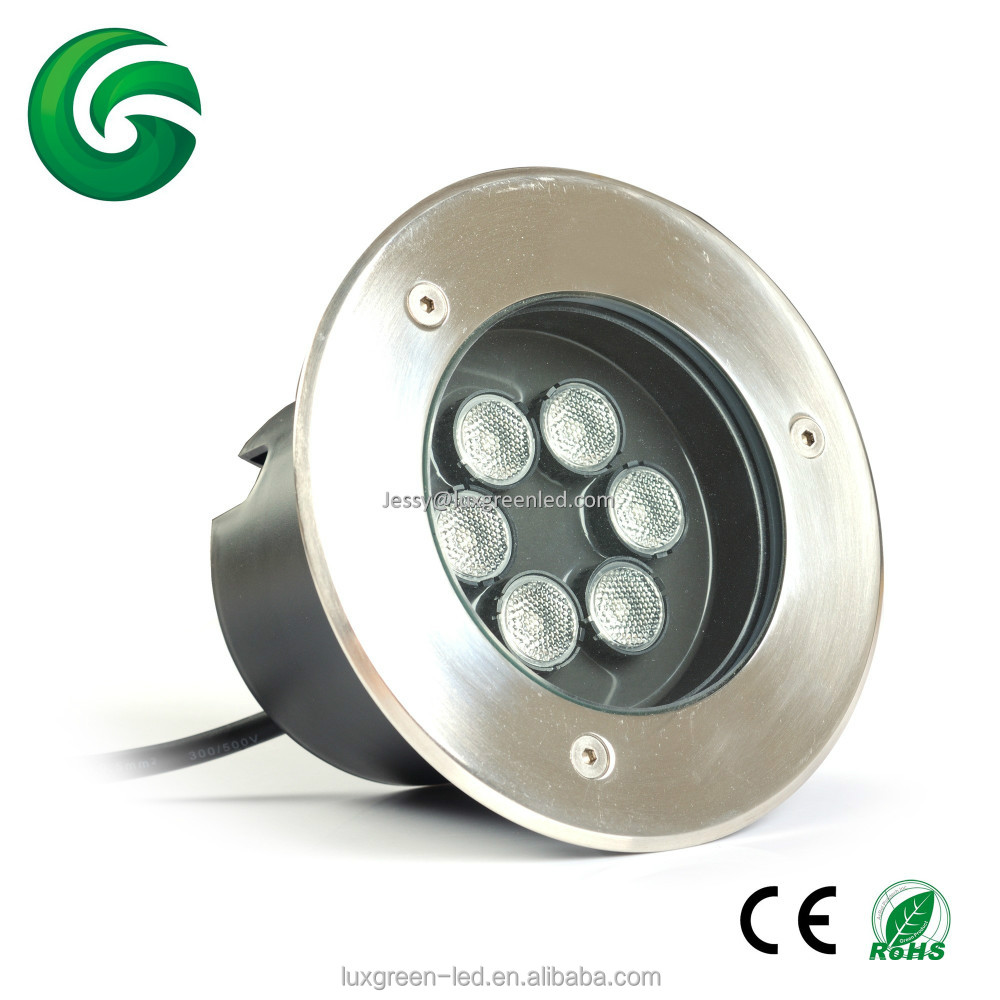 18w wireless dmx512 control RGB external led decking recessed lights for yard garden