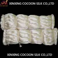 Mulberry raw silk fiber with vast uses/100% silk filament yarn/cheapest raw silk fiber