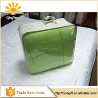 Wholesaler transparent custom made luggage clear pvc zipper quilt bag