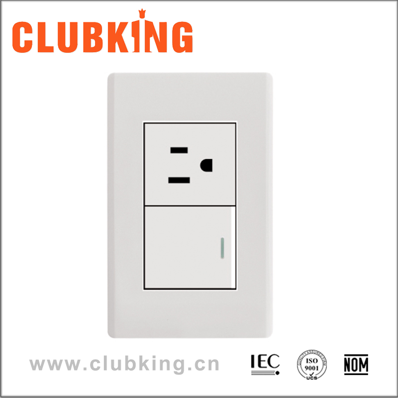 A2 Wholesale Custom Blank Plate 2 Gang Switched Socket Outlet