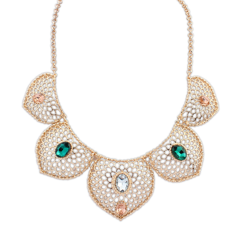 New Designed guangzhou statement setting necklace