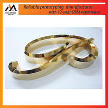 cnc machining aluminum copper polish