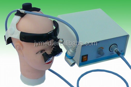Doctor surgical fiber optic head light with binocular loupe
