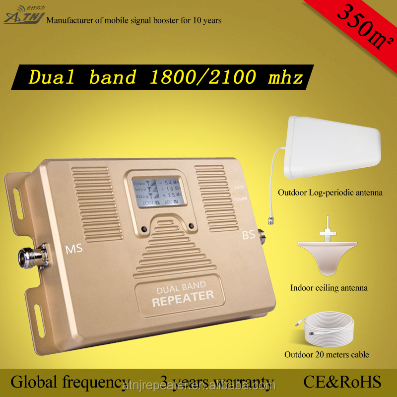 ATNJ smart 2g 3g 4g 1800/2100mhz mobile dual band signal booster
