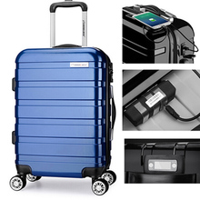 whosale smart luggage cabin GPS luggage with USB chager