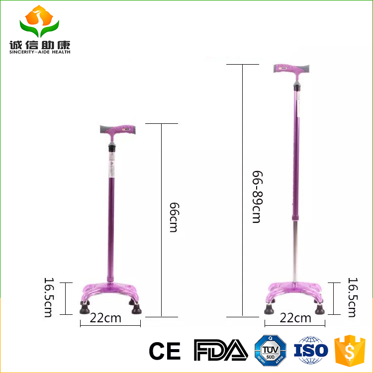 Best OEM/ODM Color multifunctional 66CM-89CM heigh adjustable walking cane gun