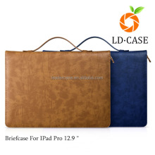 2015 NEW arrival retro leather briefcase for IPad Pro 12.9 inch Multi-functional design PU tablet case for ipad 2/3/4/air
