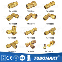 Wholesale heater hose pex pipe DZR brass screw fittings for plastic pipe
