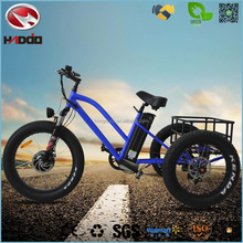 Alloy Frame 48V 500W 5 speeds Front Motor 3 wheel Fat Electric Tricycle for Adults