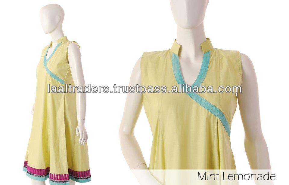 Latest Pakistani Indian Lemonade casual frock style kurti