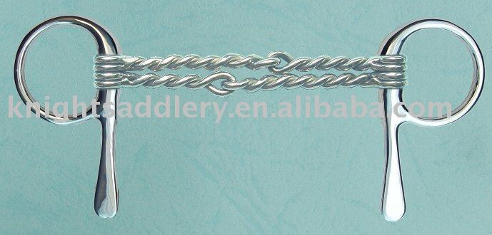Double Twisted Wire Jointed Mouth SS Half Cheek Silver Horse Bit