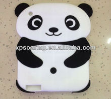 3D panda silicone case skin cover for ipad 2 ipad 3 ipad 4