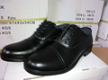 black genuine leather security guard uniform shoes dress style police shoes for officers