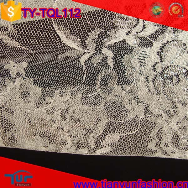silver metallic paisley pattern new designs polyester dress embroidery lace fabric