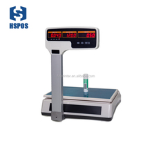 weighing scale thermal receipt printing support multi-language digital cash register scale for POS System price computing scale