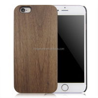 Custom logo wood phone case, blank black walnut wood phone case, pc wood phone cover for iphone 6