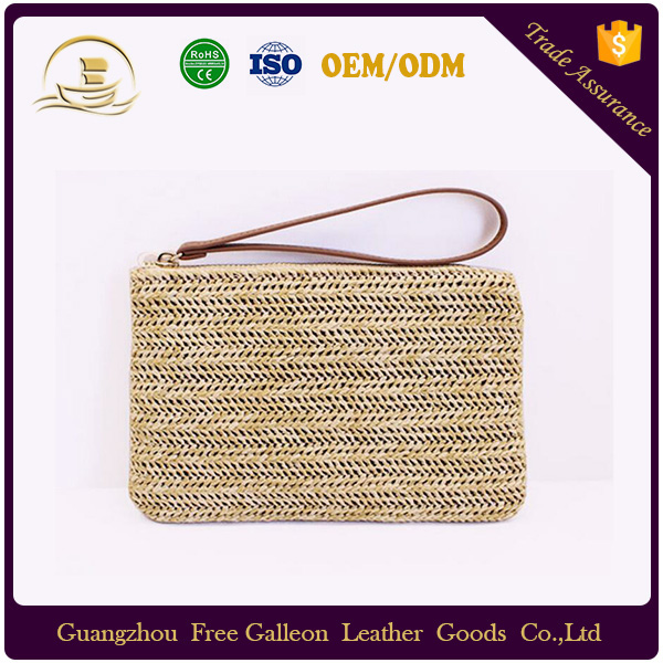 2016 Hot Selling Wheat Straw Clutch Bag