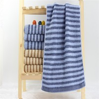 100% Cotton Wholesale Cheap Price Stripe Jacquard Towel Stock Lot