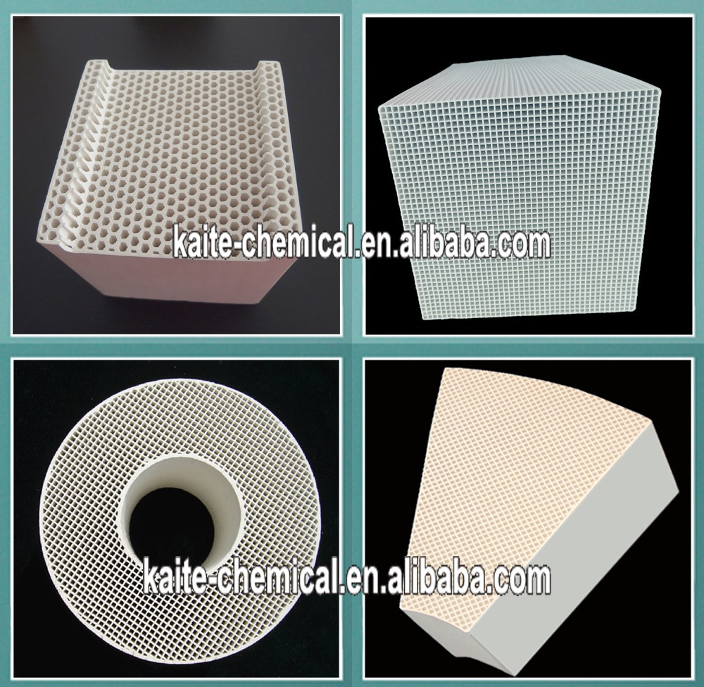 Alumina/mullite/cordierite ceramic honeycomb regenerator heat storage media150x150x300mm