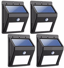 Home Power Solar System Portable Wireless Waterproof Optical Inductor Solar Motion Sensor Light for Outdoor Garden