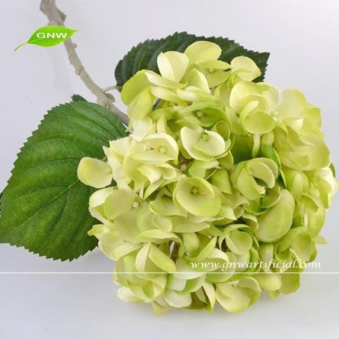 wholesale silk flowers hydrangea real touch decorative flower for home wedding decoration