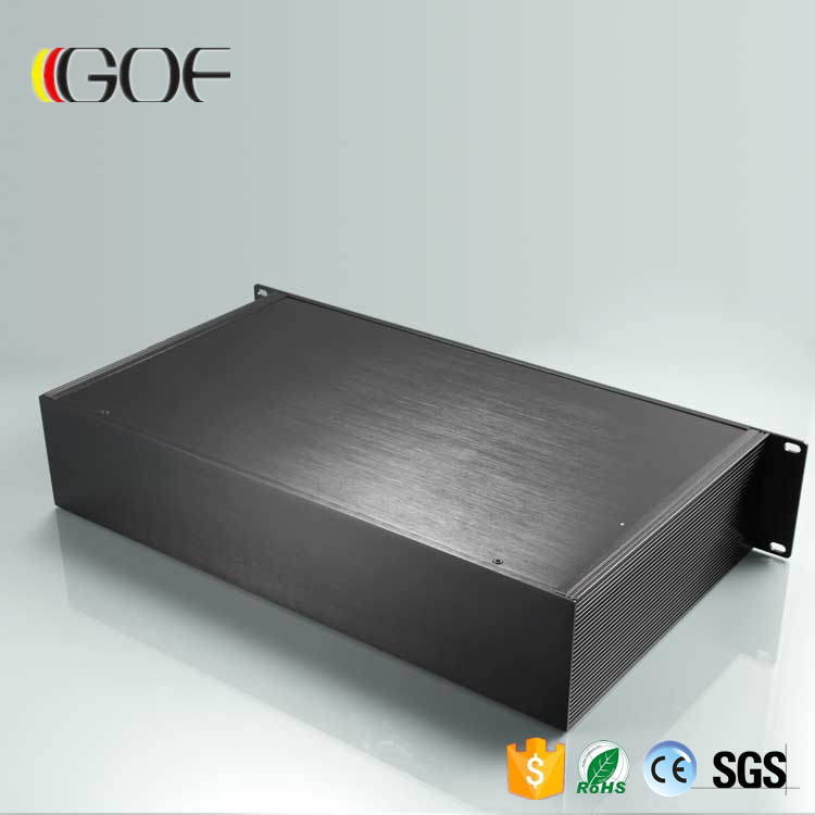 482*89*250mm (WxH-L) Guangzhou 6063 extruded aluminum profiles factory aluminum chassis power amplifier chassis