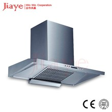 T type curved glass ceiling-mounted kitchen exhaust hood/ self venting range hood JY-HT9004