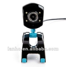 2013 NEW Computer PC Laptop USB 2.0 Webcam 50M 4 LED PC Camera HD Camera MIC Micphone