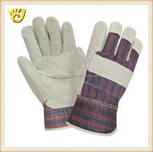 logo printing patched palm cow split leather working soft glove
