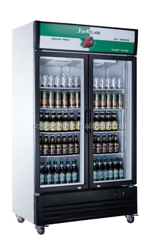Upright painted steel commercial refrigerator/beverage cooler with competitive price