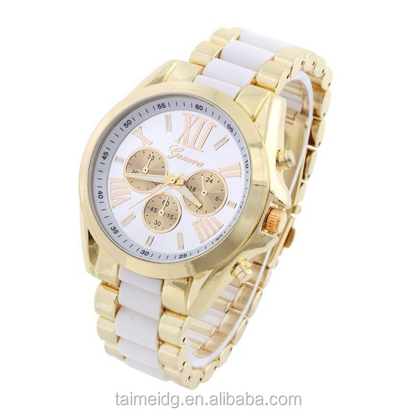 Good quality men luxury full steel watch quartz