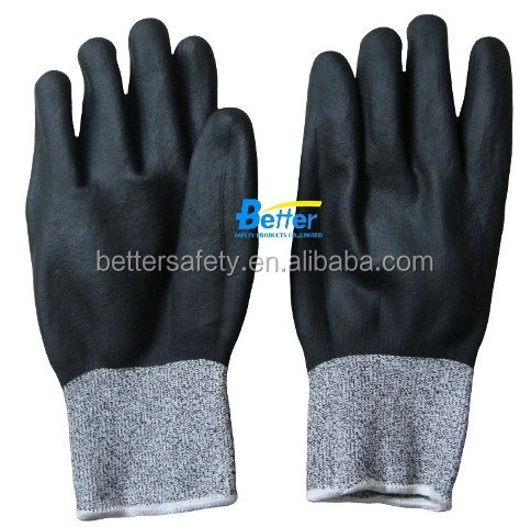 NEW HPPE Nitrile coating Cut Resistant Gloves fully coated