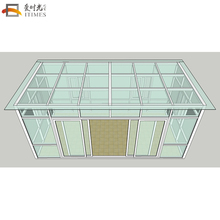 flat roof customized aluminium sunroom for swimming pool