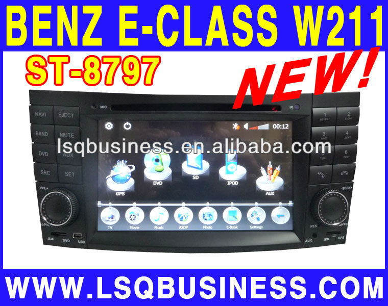 LSQ Star Hot selling double dins 7inch iwish Android 2.3 car dvd player for Mercedes benz E class w211 CLS W219