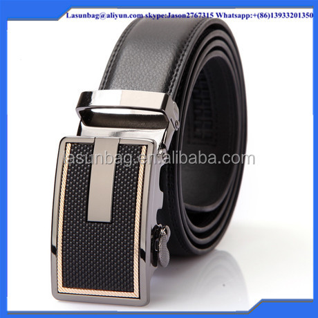 2016 Cheap Sale Magnetic Buckle Men Classic Belt Buckles Genuine Cow Leather Male Belts