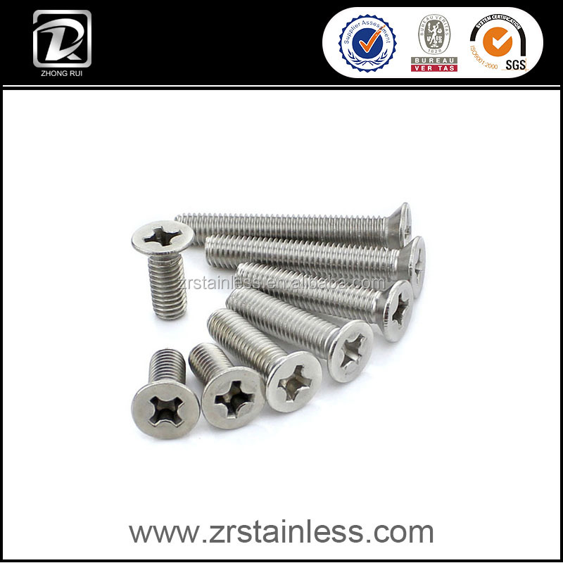 DIN965 M3 Cross Recessed Countersunk Flat Head Machine Screw