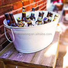 5L galvanized outdoor picnic ice bucket/beer holder
