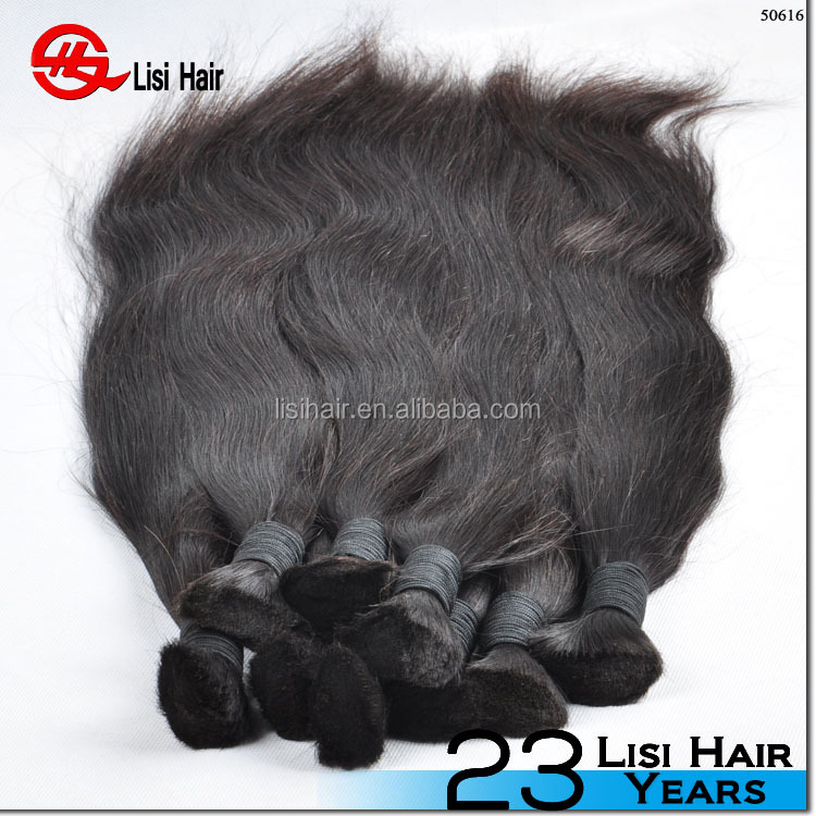 Factory price popular unprocessed virgin peruvian hair bulk,double drawn hair