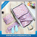 Encai 5 in 1 Floral Style Storage Bag Set Travel Clothes Packing Cube Bags Set