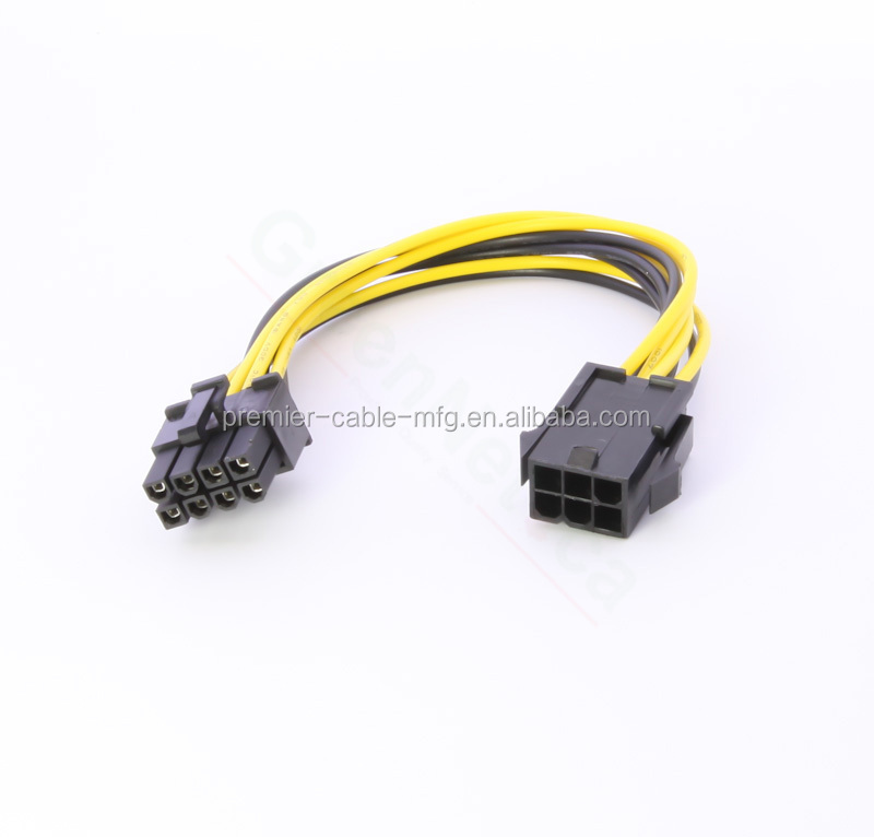 PCI Express 6 Pin to 8 Pin Graphics Card Power Cable Adapter Cable