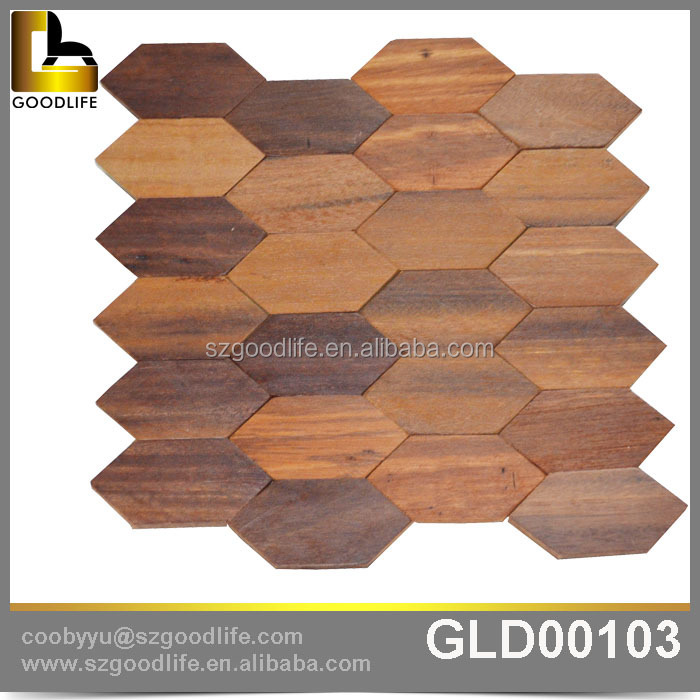 Antique Solid wood wall tile, wooden exterior tiles mosaic