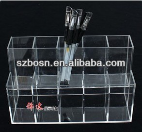 Acrylic pen container;Pen organizer for office decor;Pen display;
