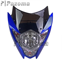 Brand New Pazoma Motor Bike Projector Headlight Bulbs Turn Signal With Blue Fairing For Streetbike