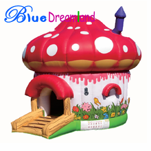 Brand new type cheap mini mushroom inflatable bouncer castle play center for kids