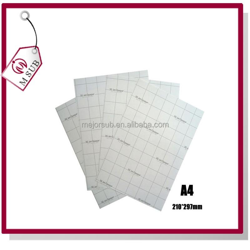 3g jet opaque heat transfer paper instructions