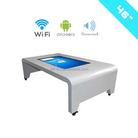 46 Inch table advertising mirror touch lcd display 3D Tea Table advertising mirror display