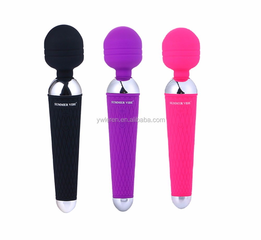 Amazon Hot Selling Magic Wand 100% Waterproof Silicone Dildo Vibrating G-spot Massager Sex Toy for Woman